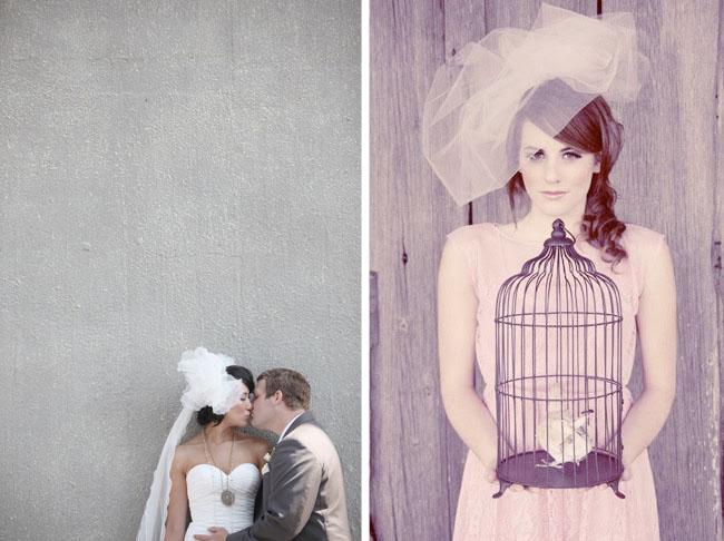 pink tulle wedding veil