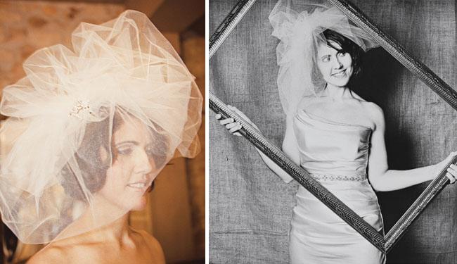 handmade tulle wedding veil