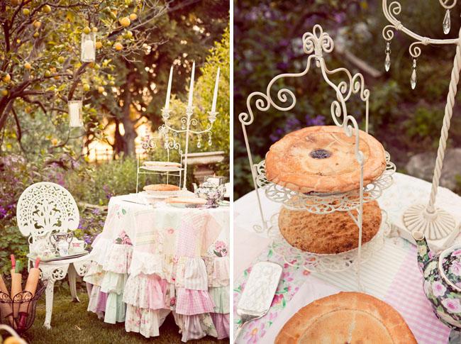 wedding pie dessert table