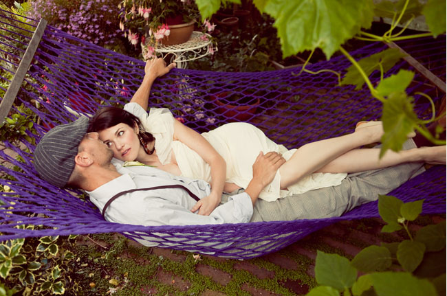 wedding couple hammock