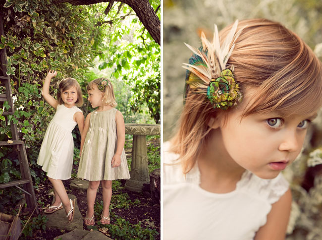 wedding flower girls hairpieces