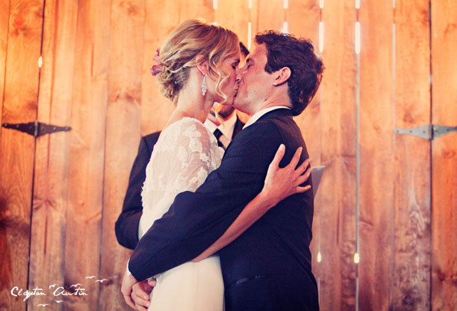 wedding kiss