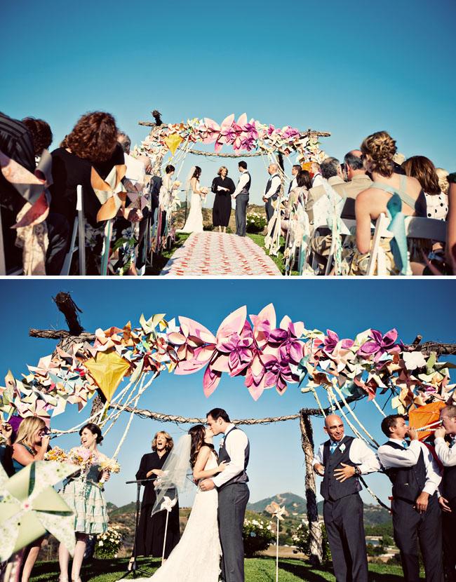 paper flowers alterscape ceremony