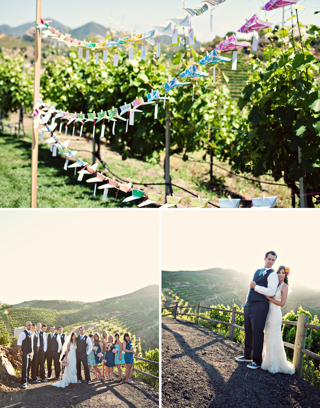 wedding paper planes winery