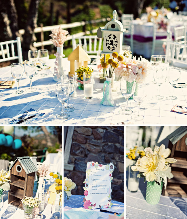 whimsical wedding reception