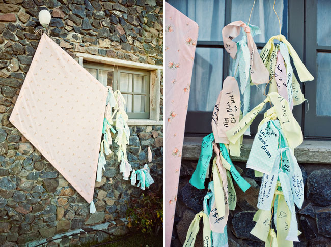 kite wedding guest book