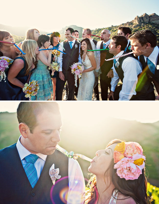 wedding horn blowers