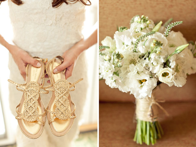 Real wedding katy chads rustic beach wedding green wedding shoes white rustic wedding bouquet junglespirit Gallery