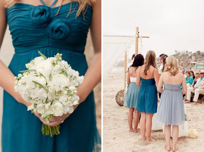 Beach Wedding Blue Bridesmaids Dresses