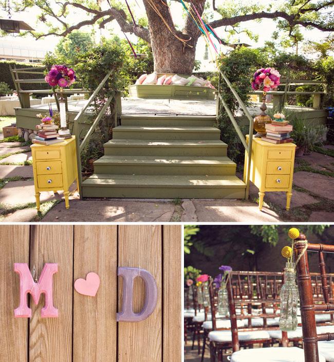 wedding ceremony rustic vintage