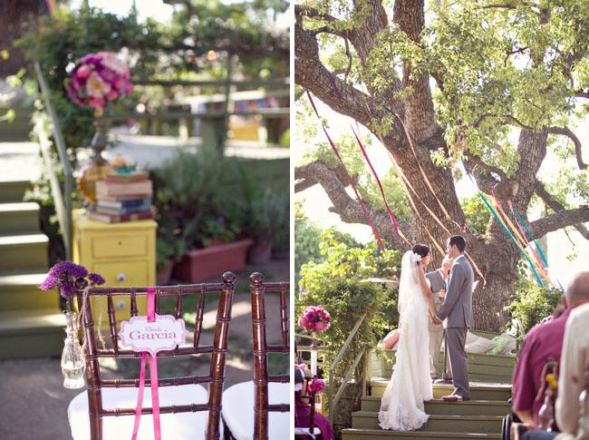 wedding under tree