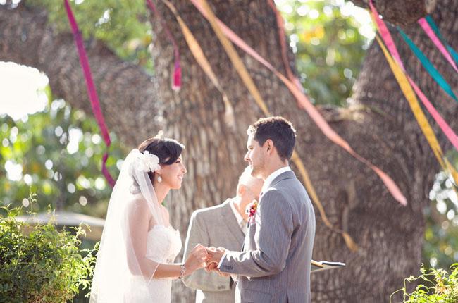 ceremony ribbons tree