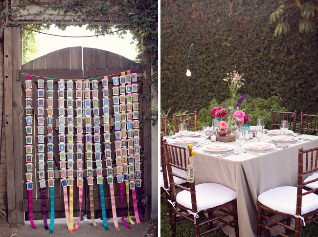 wedding place cards ribbon