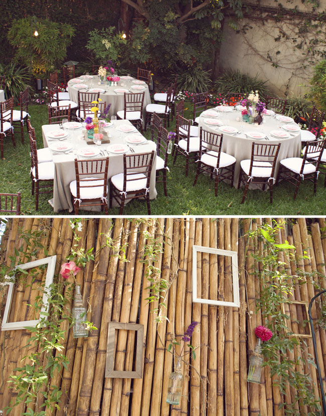 wedding backyard reception