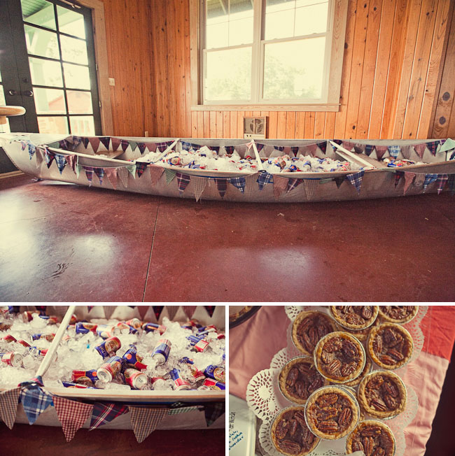 wedding rowboat bunting for drinks