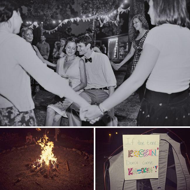 wedding campfire tents