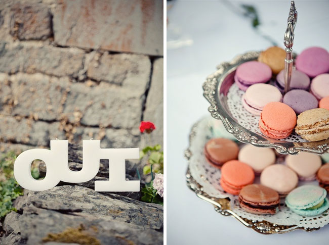 macaroons wedding oui