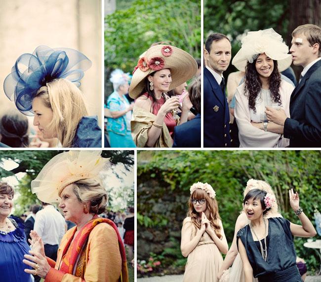 wedding hats guests