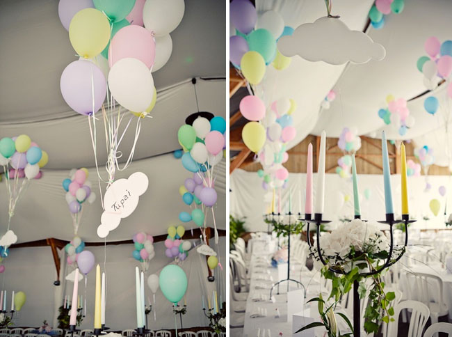 wedding reception balloons