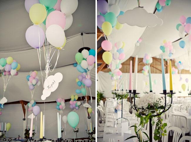 wedding reception balloons