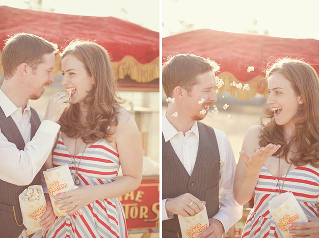 popcorn engagement photos