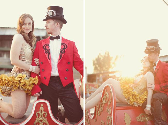 circus engagement photos