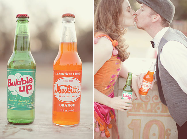 vintage soda bottoms engagement photos