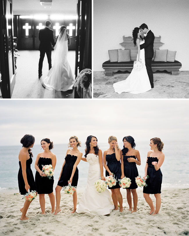 bridal party black dresses