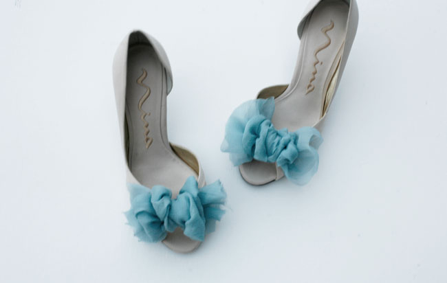DIY couture wedding shoes