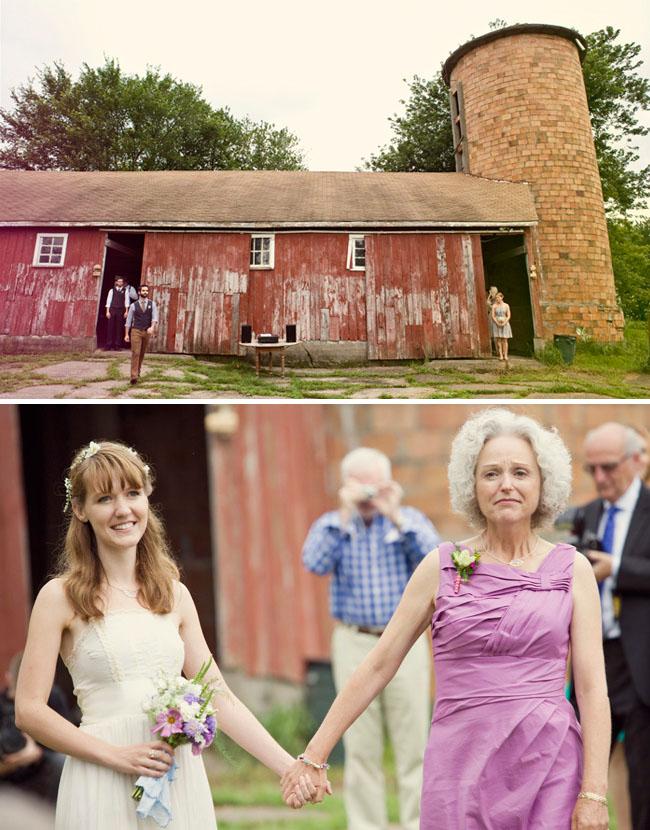 farm wedding bride