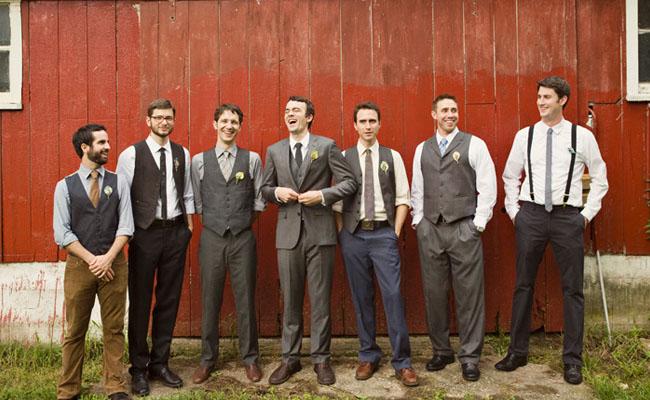 groomsmen rustic attire