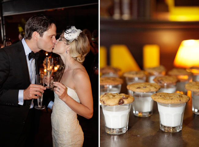 cookies milk wedding reception