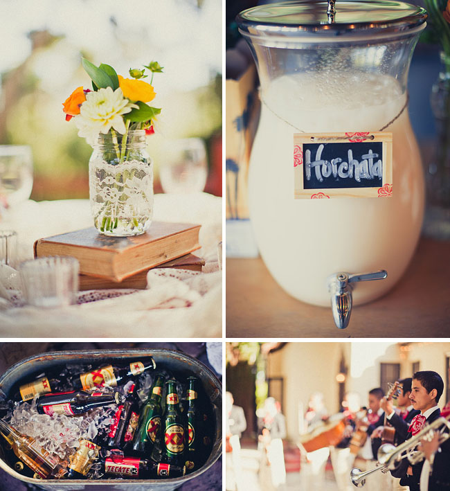 Mexican Themed Wedding Reception: Real Wedding: Vanessa + Chris' Vintage Spanish Wedding