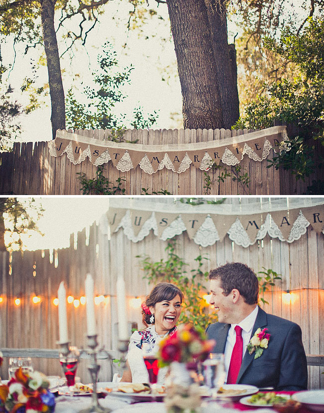 love banner wedding