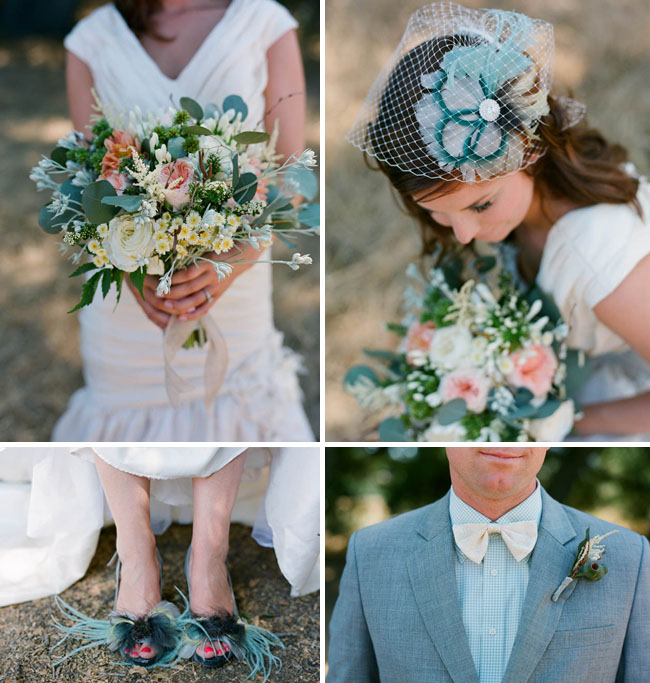 Outdoor Summer Wedding Inspiration - Green Wedding Shoes