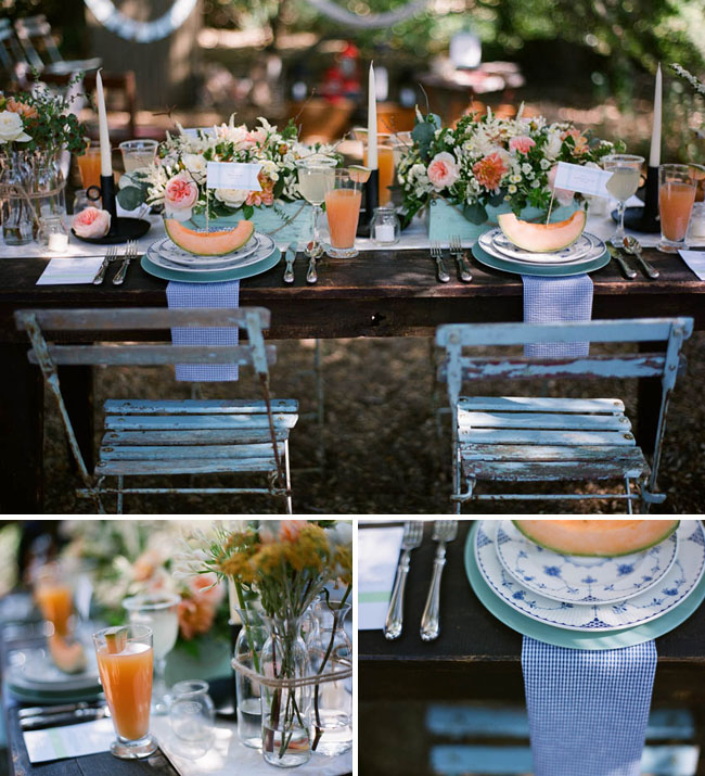 cantaloupe wedding decor