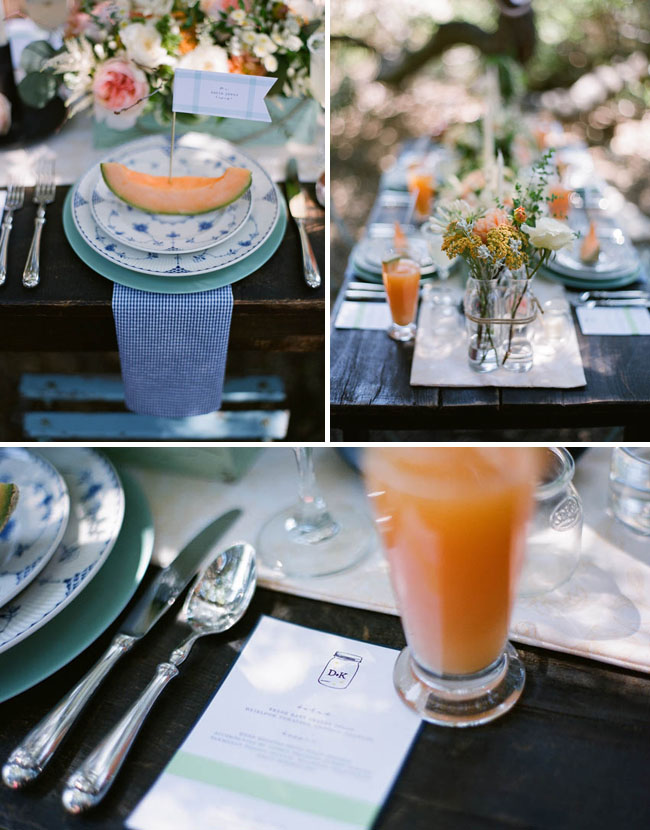 outdoor summer wedding reception
