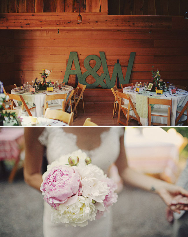 treehouse wedding big letters