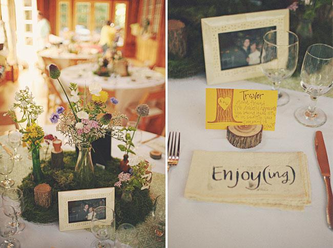 wedding rustic reception decorations