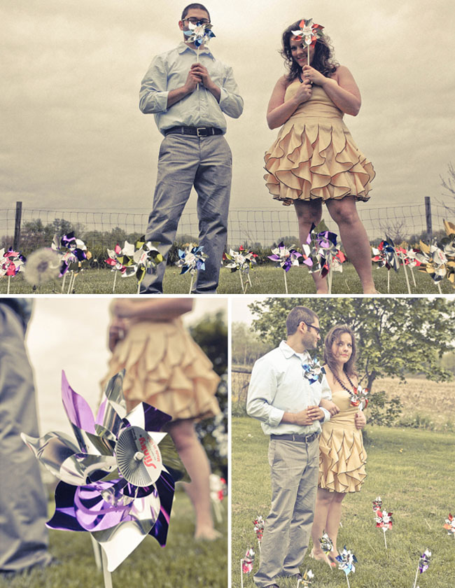 pinwheels engagement photos