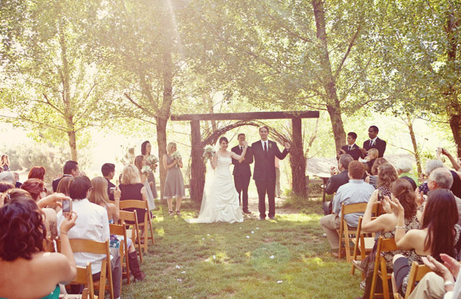 outdoor wedding ceremony california