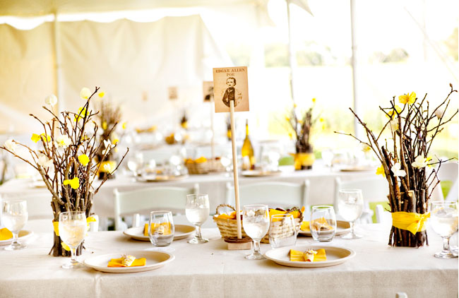backyard wedding reception