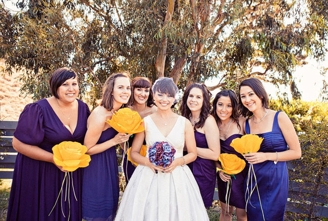 bridesmaids one flower