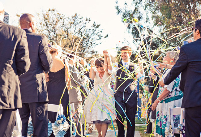 wedding exit streamers