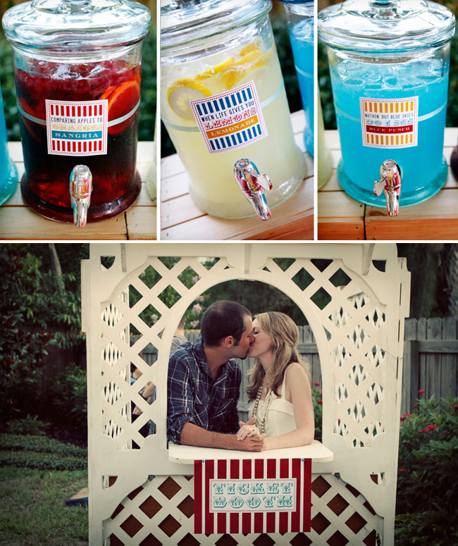 A Carnival Themed Backyard Engagement Party