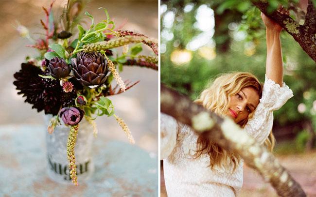 wedding bouquet artichokes