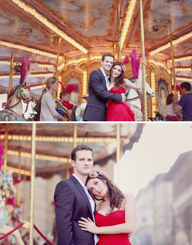 merry go round engagement photos