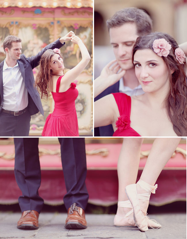 engagement photos with ballet shoes