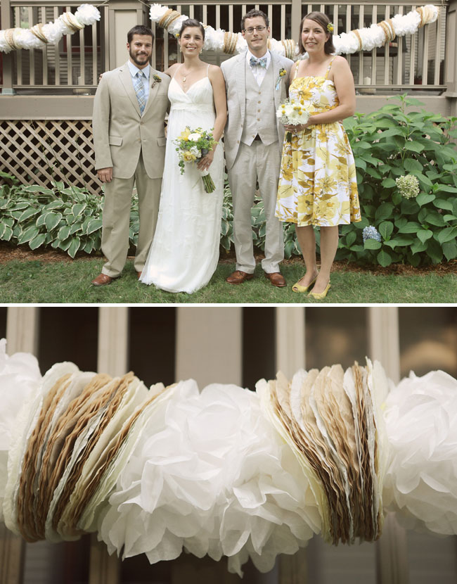 coffee filters garland wedding