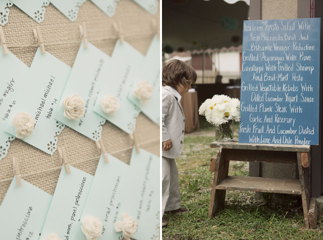 escort cards chalkboard wedding